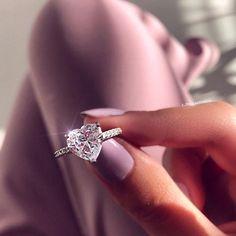 Ear Jewelry, Cute Jewelry, Jewellery, Cute Rings, Pretty Rings, Heart Shaped Rings, Heart Rings, Cheap Promise Rings, Cute Engagement Rings