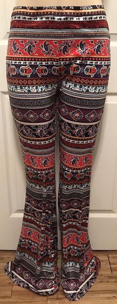 WOMENS PLUS PALAZZO PANTS 2X NEW WIDE FLARED LEG XXL 18 20 CUTE NWT