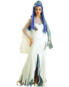 Adult The Corpse Bride Costume Dress and Veil  sc 1 st  Pinterest & Corpse Bride Ultra Deluxe Collectable Adult Costume | Amazing ...