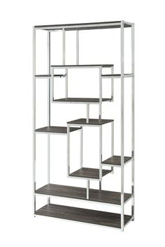 """Description Dimensions More Info Metal Bookcase Length- 35.5""""Width- 13""""Height- 71"""" Questions? Please visit our Showroom, Call Us or send us an Email. Please note: Merchandise and Price is subject to..."""