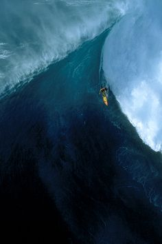 Big wave with surfer