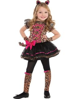 Toddler Girls Precious Leopard Costume - Party City