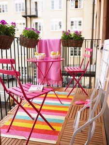 How To Decorate A Small Balcony?  http://www.nicespace.me/how-to-decorate-a-small-balcony-5382/