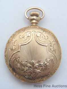 Superior Art Nouveau 14k Gold Antique Ladies 0s Elgin Hunter Pocket Watch 2 Fix #Elgin