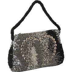 - Moyna Handbags Mini Purse - Tye Dye Heart Black/ Pewter/ Silver - Moyna Handbags Evening Bags