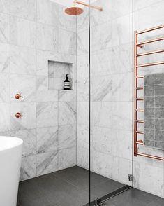 "36 Likes, 4 Comments - Walkers Tiles (@walkerstileinspiration) on Instagram: ""Beautiful marble bathroom.  #tileinspiration #walkers #geelongbusiness #geelong #tiles…"""