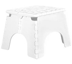 Safely and comfortably manage those hard to reach spaces with a White E-Z Foldz Collapsible Step  sc 1 st  Pinterest & EZ Foldz 12-Inch Folding Step Stools | Stools Bath and Dorm islam-shia.org