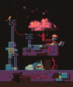 Starry night by FrostPumpkin #pixelart