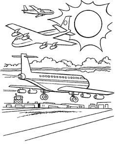 coloring page Aeroplains - Aeroplains
