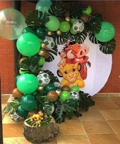 Lion King Birthday, Jungle Theme Birthday, Baby Boy 1st Birthday Party, Jungle Party, Lion King Theme, Lion King Party, Lion King Baby Shower, Le Roi Lion, Decoration
