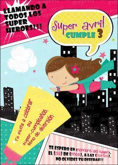 Dragonfly Detallez Unicoz: Super Girls Invitations