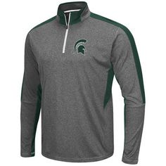 Michigan State Spartans Colosseum Atlas Quarter-Zip Jacket - Charcoal