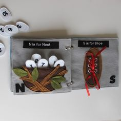 I like the eggs in a nest - maybe make   blue for a robin? Facing page should have a spot to match the   numbers.