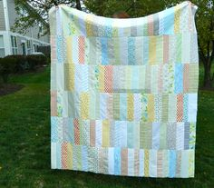 """Not sure where the name """"Low Volume"""" quilt came from, but there's a good description of the process for this one."""