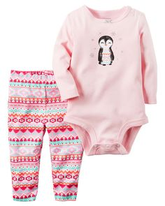 Baby Girl 2-Piece Bodysuit & Pant Set from Carters.com. Shop clothing & accessories from a trusted name in kids, toddlers, and baby clothes.