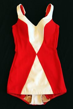Red and White Cole of California Vintage SwimsuitMINT by Seahoney1, $169.00