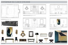 Residential Design 3 Design Charrette of a Living Room for (Professor Michael). (Done on InDesign).
