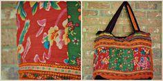 Handmade Shoulder Bag from Thailand (Red Floral)