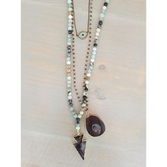 Rosary Bead Necklace w/Pendant by HelloGoodVibesDallas on Etsy