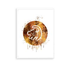 SALE! The Lion King Simba drawing print, Disney Watercolor Art, Disney Nursery watercolor art, Baby Shower Gifts, Lion king baby print,ET288 by artRuss on Etsy