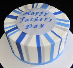 Father's Day - Buttercream, with fondant accents.