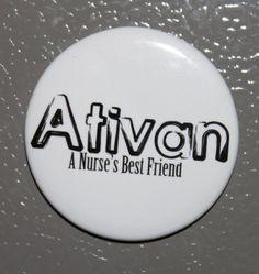 Nurse RN Student Nurse Humor Magnet  Ativan a by ScrappyJules, $4.00