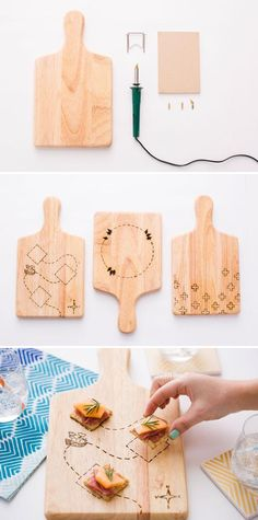 new Ideas for cheese board diy projects wood burning - Cheese Glorious Cheese - Wood Burning Crafts, Wood Burning Patterns, Wood Crafts, Diy Crafts, Wooden Cheese Board, Cheese Boards, Diy Cutting Board, Custom Wood, Tricks