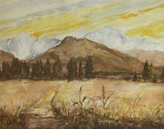 Not far from the Tatra Mountains. Watercolor. Author: Witold Kubicha