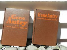 1940s-Era-Gene-Autry-Book-Set-Redwood-Pirates-Thief-River-Outlaws