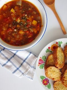 Puy lentil soup with Parmesan toast from Chubby Hubby