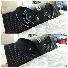 diamond audio Subwoofer Sundays.Ferrari 458 box design custom car stereo subwoofers custom trunk face