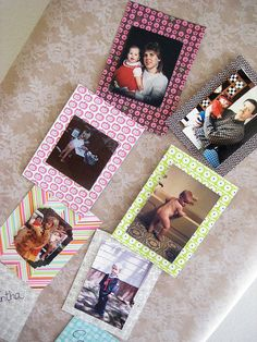 Baby shower party idea: Pictures of mother and father as babies and children! We matched up our photos - how funny!