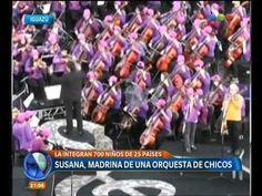 Susana Giménez, madrina de una orquesta de chicos - Telefe Noticias.