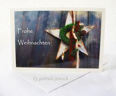 """Weihnachtskarte Karte Weihnachten """"Stern"""" von PHOTOGLÜCK auf DaWanda.com"""