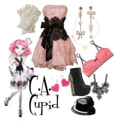 """""""C.A. Cupid//Monster High//Halloween Dance"""" by rowendell ❤ liked on Polyvore"""