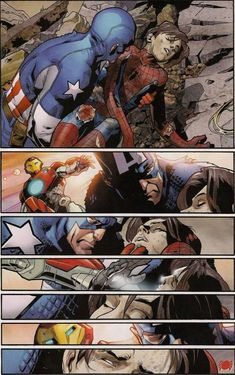 Peter Parker from Ultimatum Spider-Man Requiem Vol 1 2 page -- Marvel Funny, Marvel Dc Comics, Mundo Superman, Mundo Marvel, Henry Pym, Stuart Immonen, Post Apocalyptic Art, Steve And Tony, Spider Art