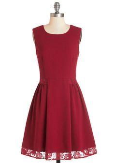 Maraschino Cheery Dress in Bing Cherry | Mod Retro Vintage Dresses | ModCloth.com