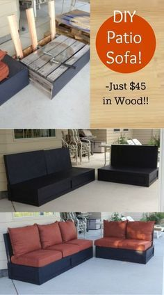 I have been wanting patio furniture, comfy-solid-indestructible-to-kids-furniture, on my back porch for a while now and just couldn't find any that fit that criteria…. that also fit in my budget. So I winged it and it turned out Awesome! See tutorial now ------> http://www.discountqueens.com/diy-patio-furniture-sofa-loveseat-pallets/ Diy Pallet Patio Furniture, Palette Patio Furniture, Pallett Couch, Diy Furniture Sofa, Pallet Couch Outdoor, Pallet Deck Furniture, Diy Furniture On A Budget, Painting Kids Furniture, Cheap Patio Furniture