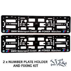 BMW Motorsport M-POWER Munchen Number Plate Surrounds Holder Frame + Free Fixing  sc 1 st  Pinterest & 2x BMW Motorsport GmbH M-POWER Munchen Silver Number Plate Surrounds ...