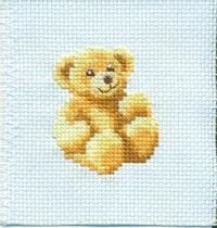 Cross Stitch bear - link to site w free patterns too