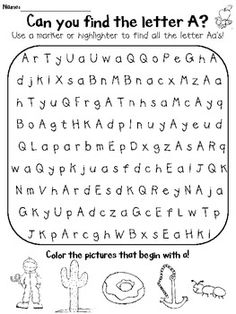 Alphabet Letter Search THIS IS GREAT!