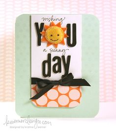 Cheery colors and adorable polka dots from Kristina #cards