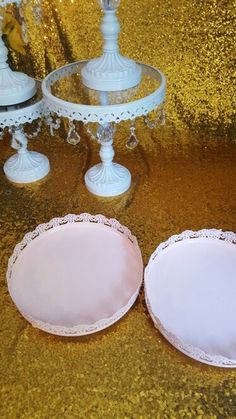 Online Shop 3 pcs/set cake stand wedding decoration cake plate lace | Aliexpress Mobile
