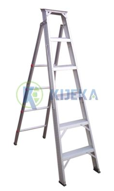 """Manufactured from high tensile aluminum alloy Compact, light in weight yet sturdy, foldable and suitable where no wall support is available. Platform on top for convenient working. Section Size Width: Aluminium """"C"""" Grade) Size: x Aluminium Ladder, Aluminium Alloy, Compact, Divider, Stage, Platform, Wall, Top, Walls"""
