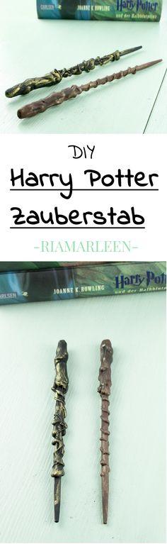DIY Harry Potter Zauberstab selber machen - einfache und günstige DIY Idee. Dieser DIY Zauberstab ist nicht nur eine tolle Geschenkidee für echte Harry Potter Fans, sondern auch eine tolle Deko für das heimische Bücherregal. Klicke auf das Bild für mehr Informationen.