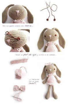DIY Crochet Bunny Doll Tutorial diy how to tutorial