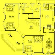 خرائط الفيلا DY-03 - غرف نوم 4 18.10م عرض - 17.90م عمق
