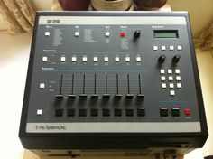 E-mu Systems SP-1200 ~ classic drum sequencing machine and sampler released in August 1987 ~ The SP-1200 became an icon of hip hop's golden age, due to its ability to construct the bulk of a song within one piece of portable gear