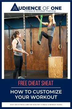 Free Cheat Sheet: How To Customize Your Workout - Audience of One Cheat Sheets, Fitness Goals, One Size Fits All, Cheating, Mindset, Athlete, Exercises, Workout, Unique