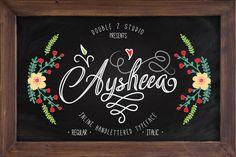 Aysheea Inline Script - 35% OFF by DoubleZ Studio on Creative Market